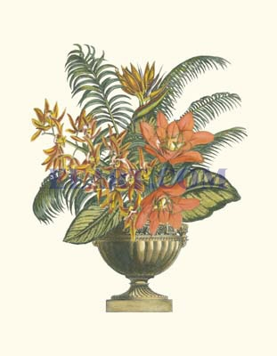 Exotic Flowers in Urn I