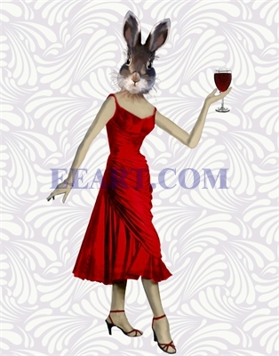 Rabbit in Red Dress